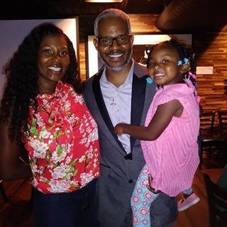 Richard Miles with Wife & Daughter