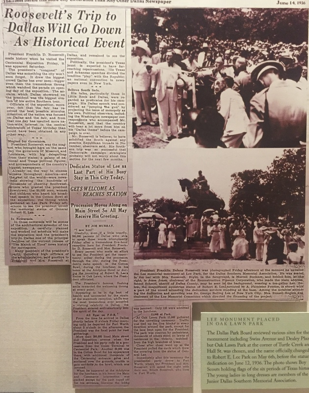 Newspaper Article on the unvailing