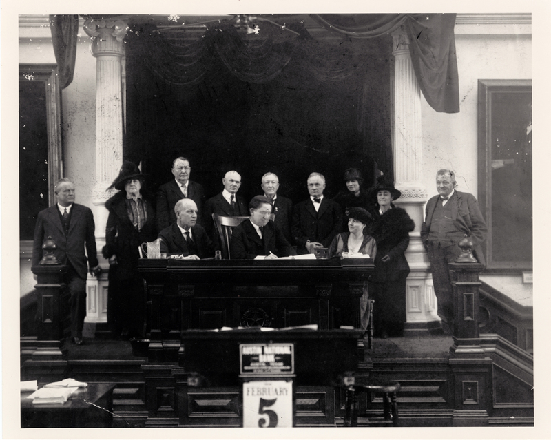 Texas Gov Hobby signing full suffrage bill