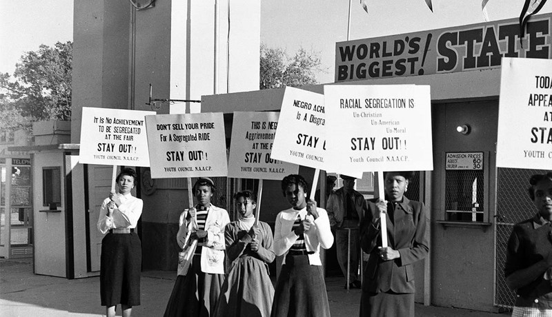 NAACP Youth Council Picket Line, 1955 Texas State Fair